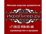 Логотип Икра Питер ру
